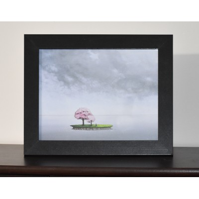 Cadre 11.5 x 9.5 pouces «Cerisiers en fleur» de Marie-Sol St-Onge