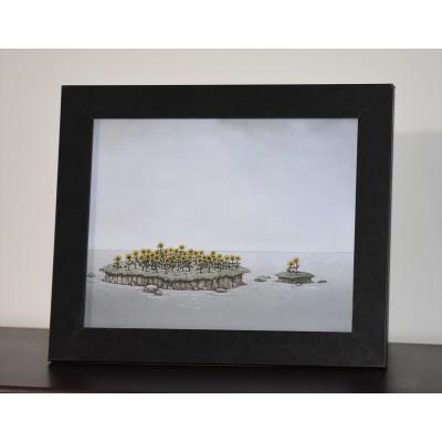 Cadre 11.5 x 9.5 pouces « Les îles aux tournesols» de Marie-Sol St-Onge