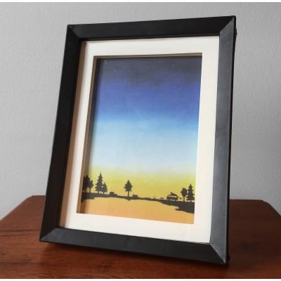 Cadre 7 x 9 pouces «Westfaliaau crépuscule » de Marie-Sol St-Onge