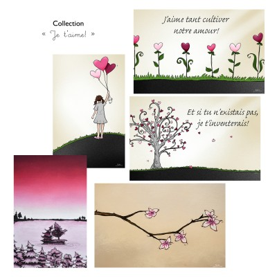 Cartes de souhaits, collection « Je t'aime! »