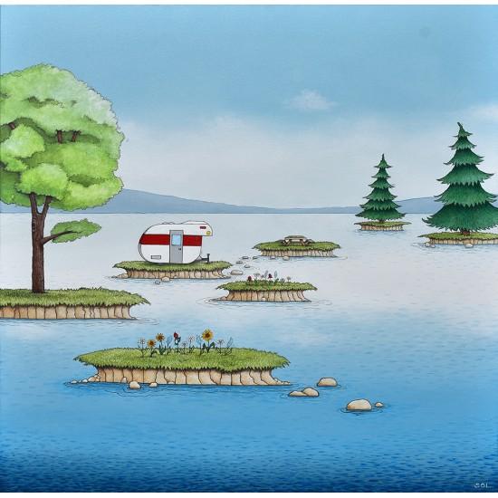 """Reproduction """"L'archipel"""" de Marie-Sol St-Onge"""