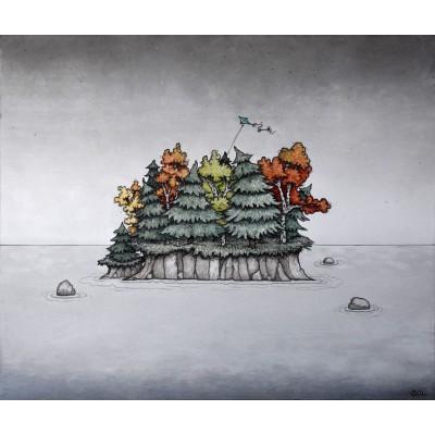 """Reproduction de la toile """"L'automne"""" de Marie-Sol St-Onge"""