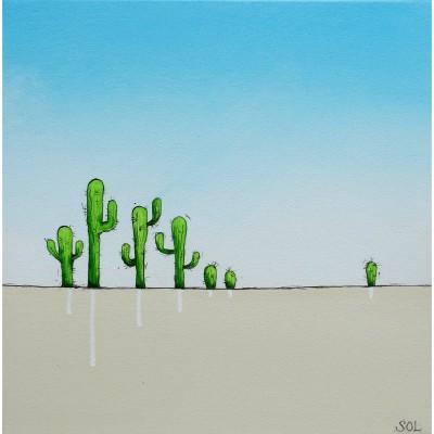 """Reproduction de la toile """"Les cactus"""" de Marie-Sol St-Onge"""