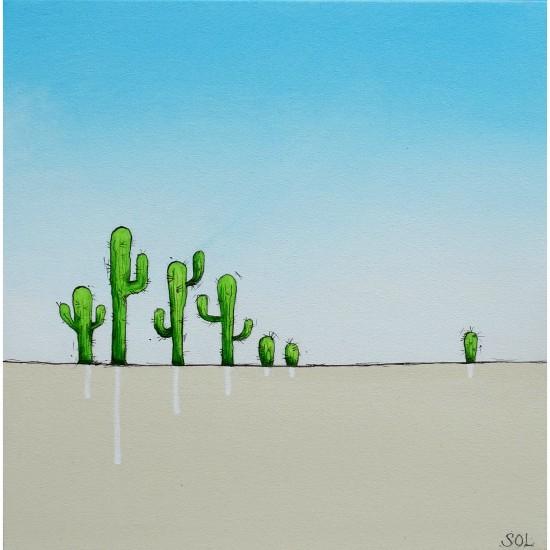 """Oeuvre originale """"Cactus"""" de Marie-Sol St-Onge"""