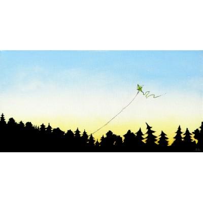 """Reproduction de la toile """"Le cerf-volant"""" de Marie-Sol St-Onge"""