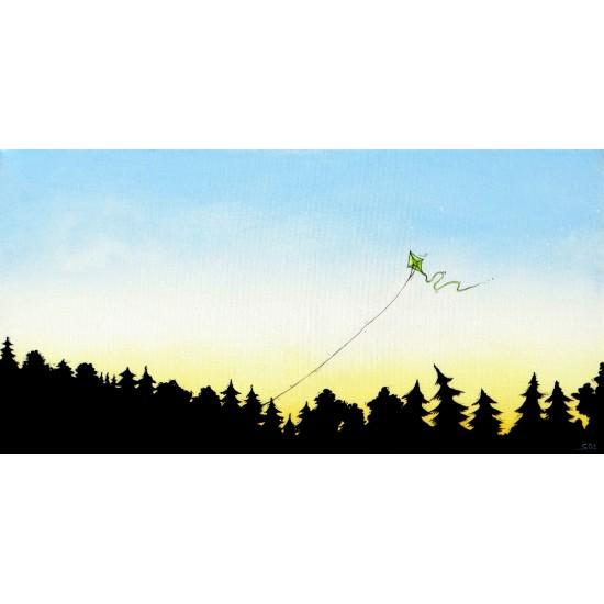 """Oeuvre originale """"Le cerf-volant"""" de Marie-Sol St-Onge"""
