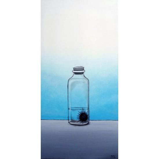 """Oeuvre originale """"L'oursin noir"""" de Marie-Sol St-Onge"""