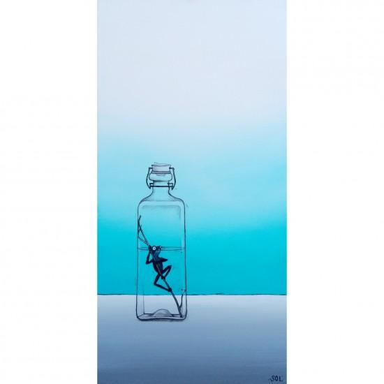 """Oeuvre originale """"La reinette noire"""" de Marie-Sol St-Onge"""