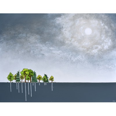 """Reproduction de la toile """"La petite forêt"""" de Marie-Sol St-Onge"""