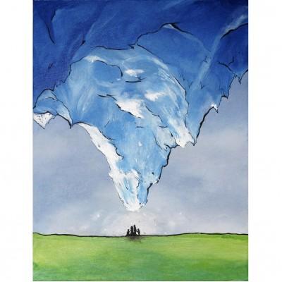 """Reproduction de la toile """"Quand l'Everest nous tombe sur la tête"""" de Marie-Sol St-Onge"""