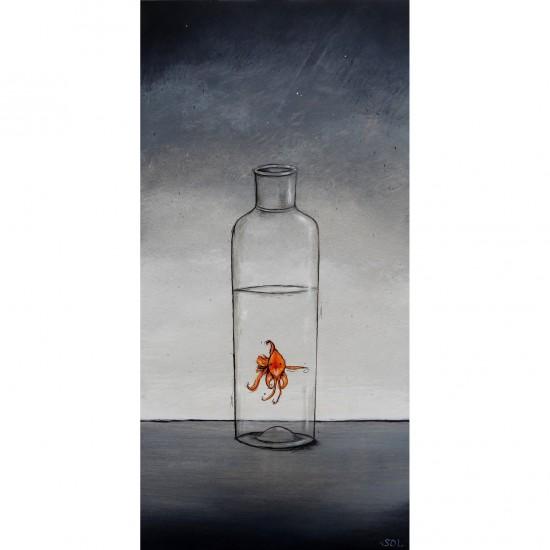 """Reproduction de la toile """"À moitié plein"""" de Marie-Sol St-Onge"""