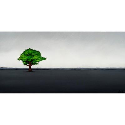 """Reproduction de la toile """"Arbre à l'horizon"""" de Marie-Sol St-Onge"""