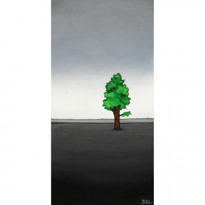 """Reproduction de la toile """"Arbre à la vertical"""" de Marie-Sol St-Onge"""