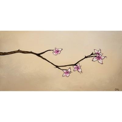 """Reproduction de la toile """"Branche en fleur"""" de Marie-Sol St-Onge"""