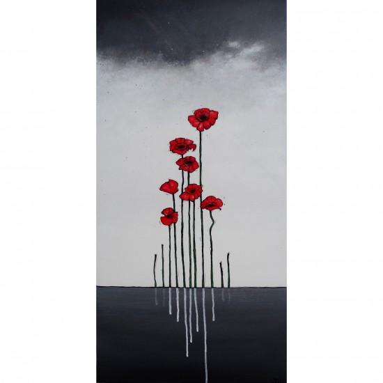 """Reproduction de la toile """"Je me souviens"""" de Marie-Sol St-Onge"""