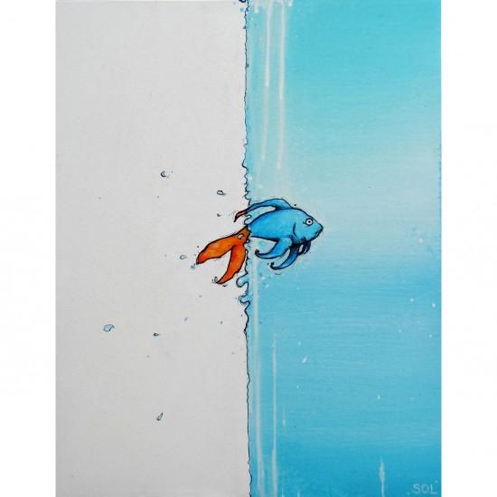 """Reproduction de la toile """"Le mur"""" de Marie-Sol St-Onge"""