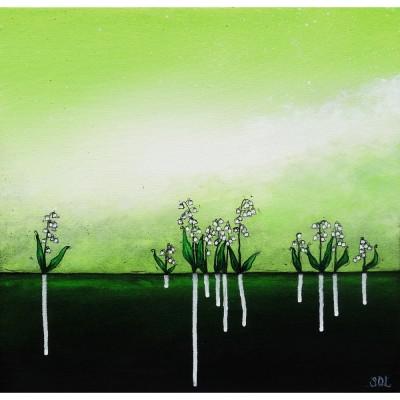 """Reproduction de la toile """"Muguet"""" de Marie-Sol St-Onge"""