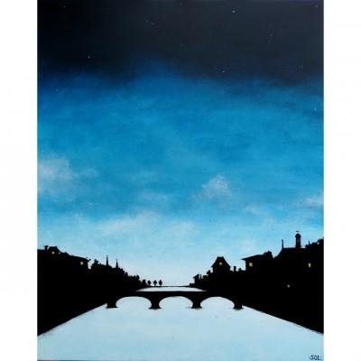 """Reproduction de la toile """"Pont de Paris"""" de Marie-Sol St-Onge"""