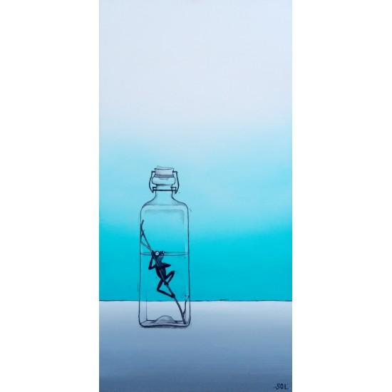 """Reproduction de la toile """"La rainette noire"""" de Marie-Sol St-Onge"""