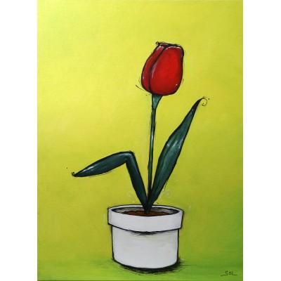 """Reproduction de la toile """"Tulipe"""" de Marie-Sol St-Onge"""