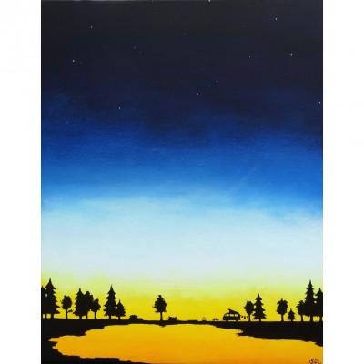 """Reproduction de la toile """"Westfalia au crépuscule"""" de Marie-Sol St-Onge"""